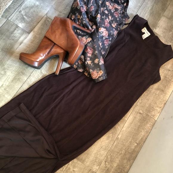 Vintage Dresses & Skirts - Suede Vintage maxi!